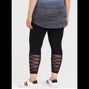 dc669f0d59cb7c torrid Pants | Sale Nwt Black Lattice Mesh Crop Legging | Poshmark